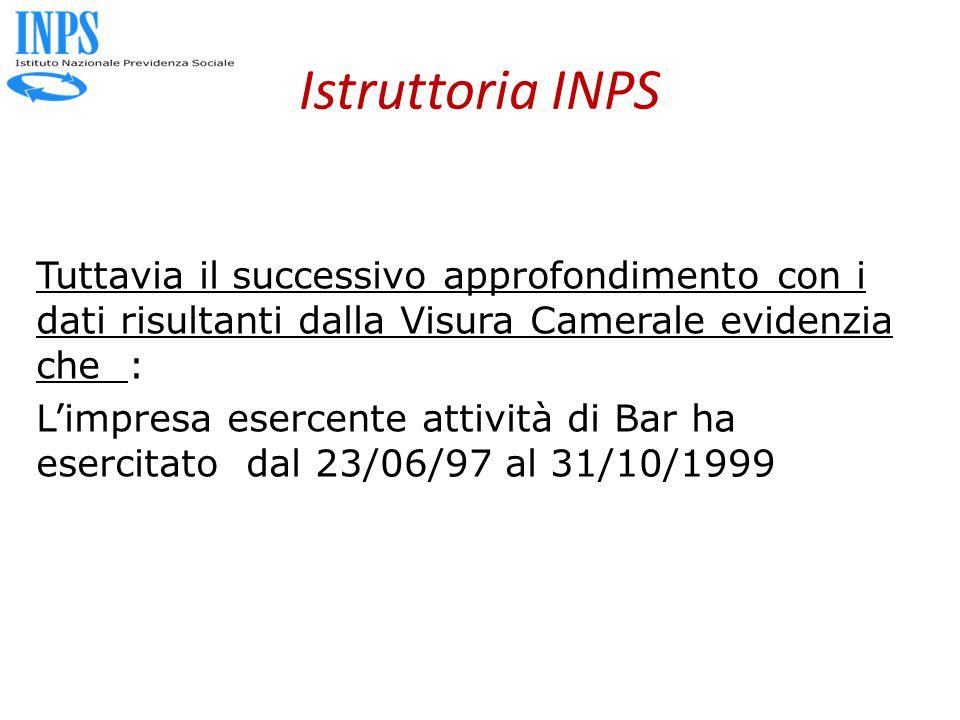 Istruttoria INPS
