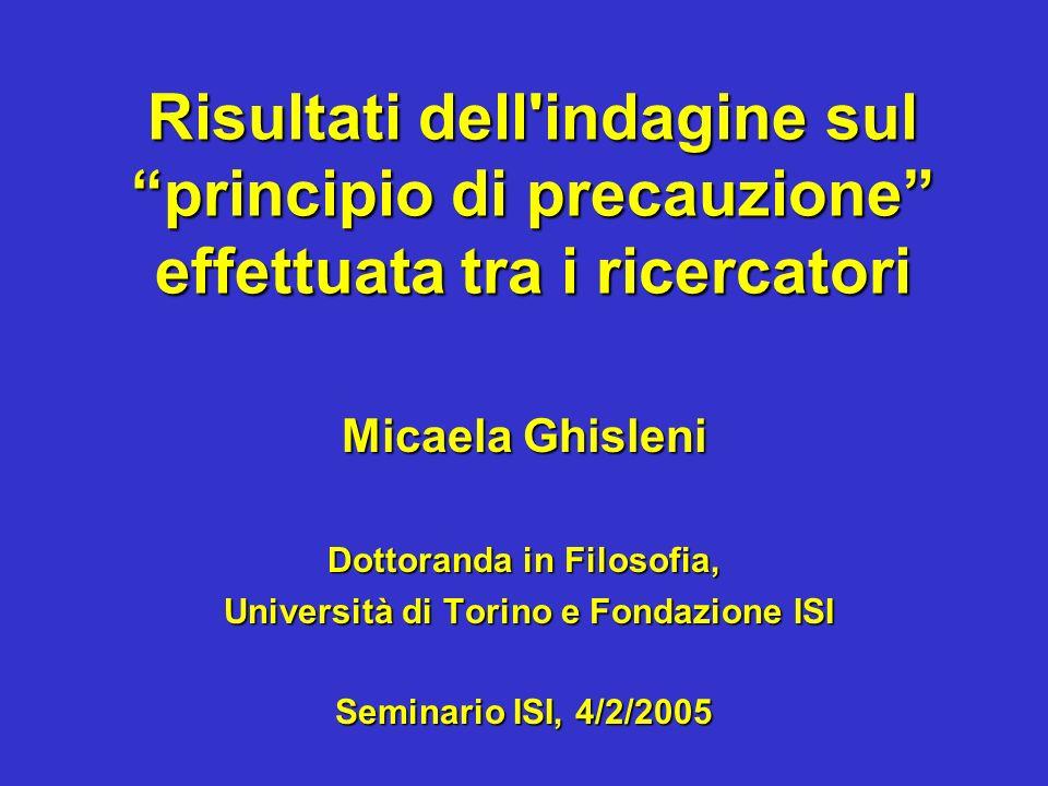 Dottoranda in Filosofia, Università di Torino e Fondazione ISI