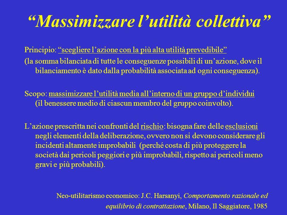 Massimizzare l'utilità collettiva