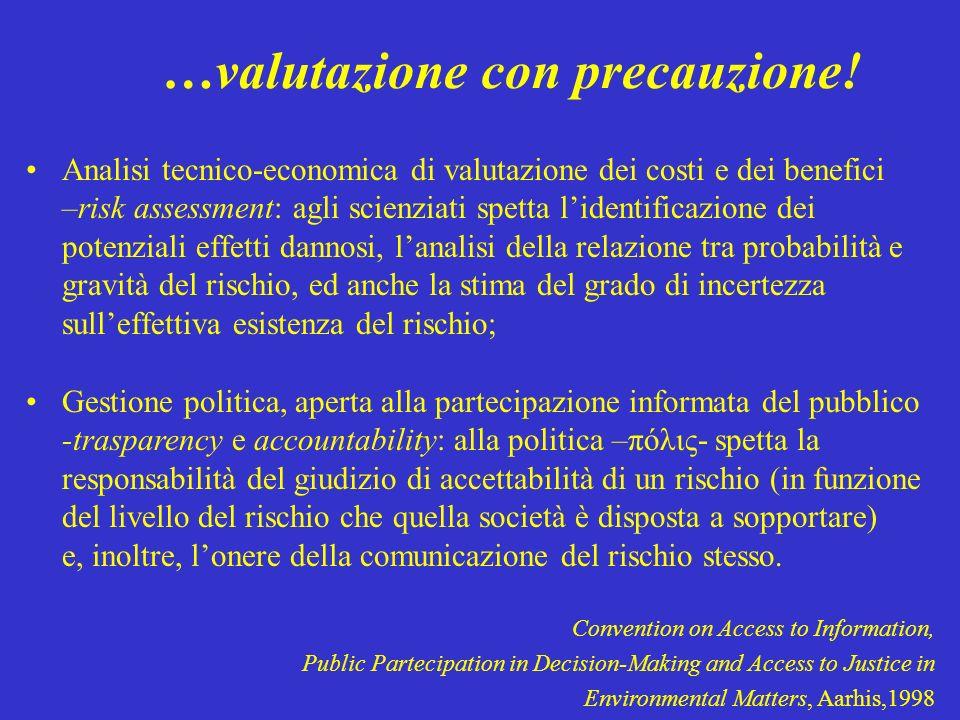 …valutazione con precauzione!
