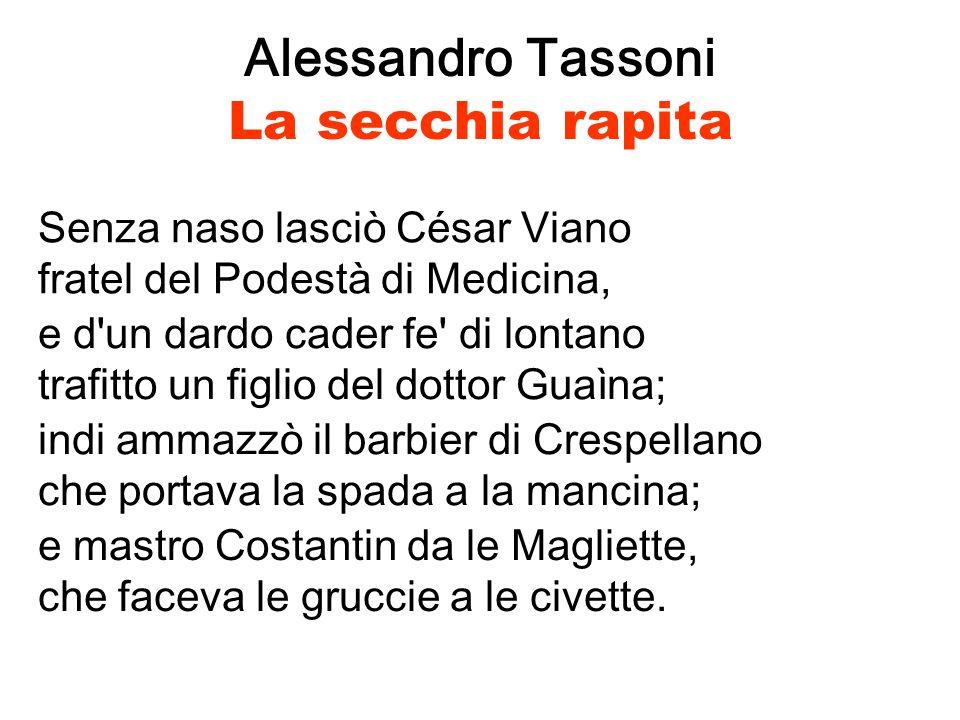 Alessandro Tassoni La secchia rapita