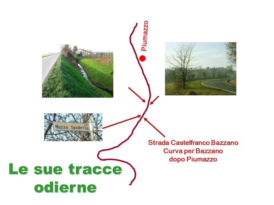 Strada Castelfranco Bazzano Curva per Bazzano