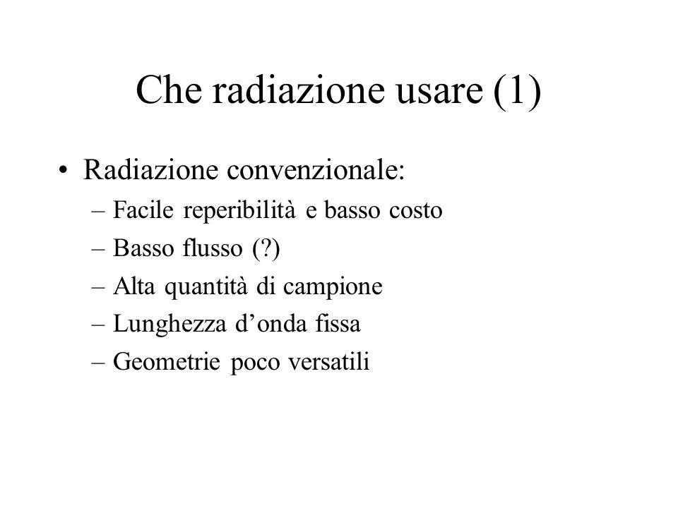 Che radiazione usare (1)