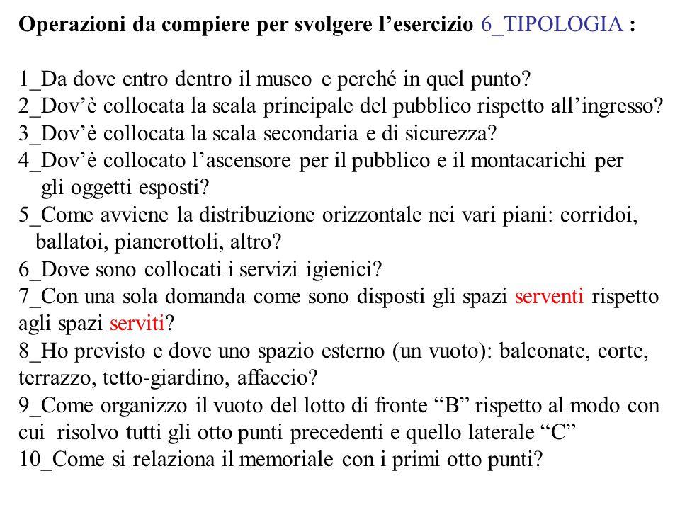 Operazioni da compiere per svolgere l'esercizio 6_TIPOLOGIA :
