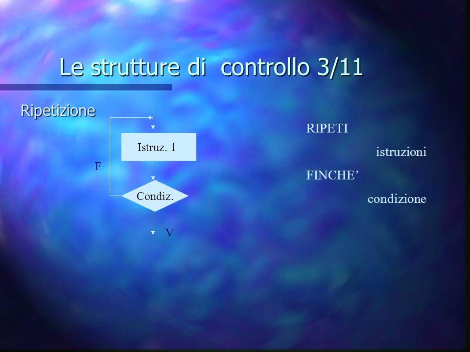 Le strutture di controllo 3/11
