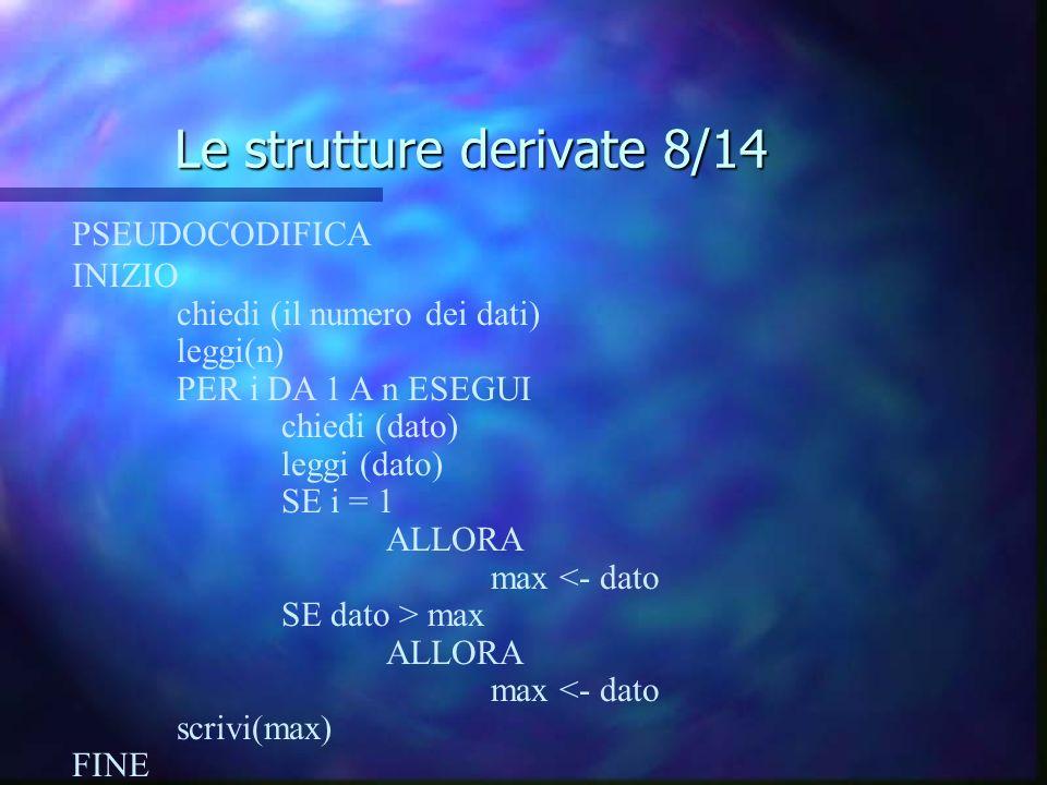 Le strutture derivate 8/14