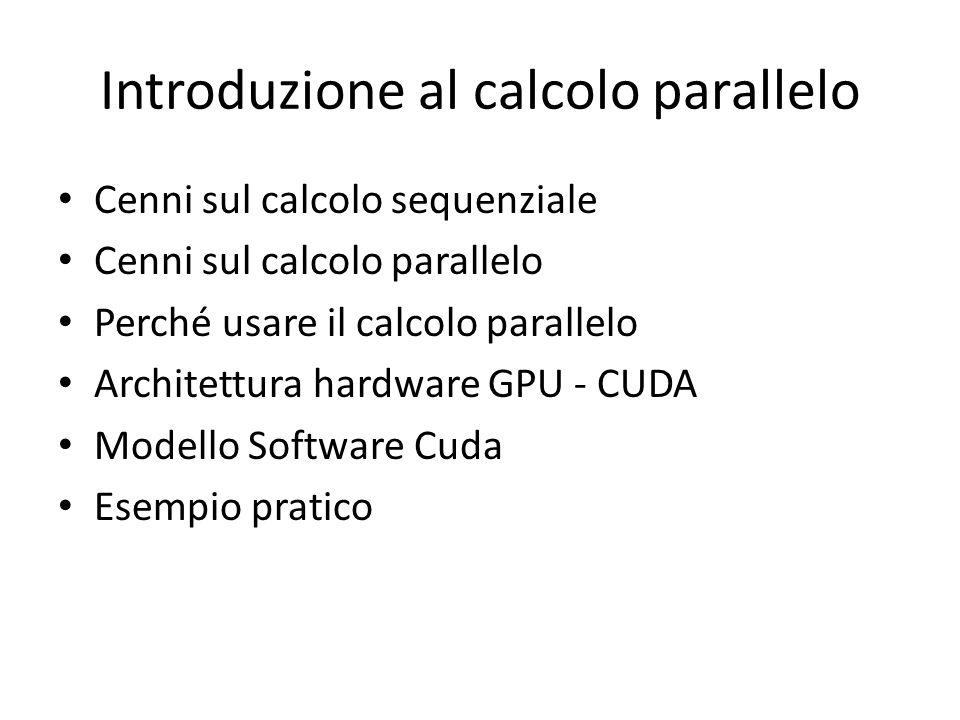 Introduzione al calcolo parallelo