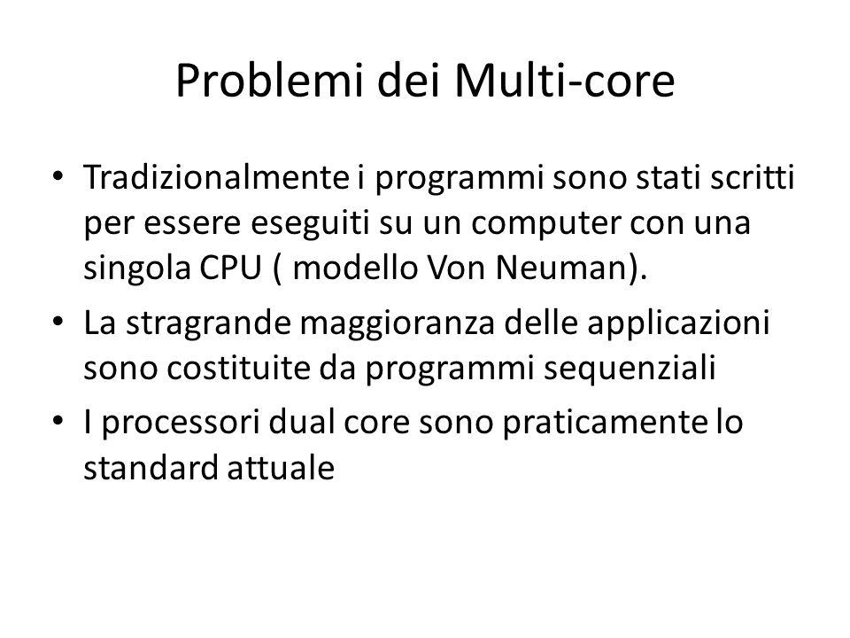 Problemi dei Multi-core