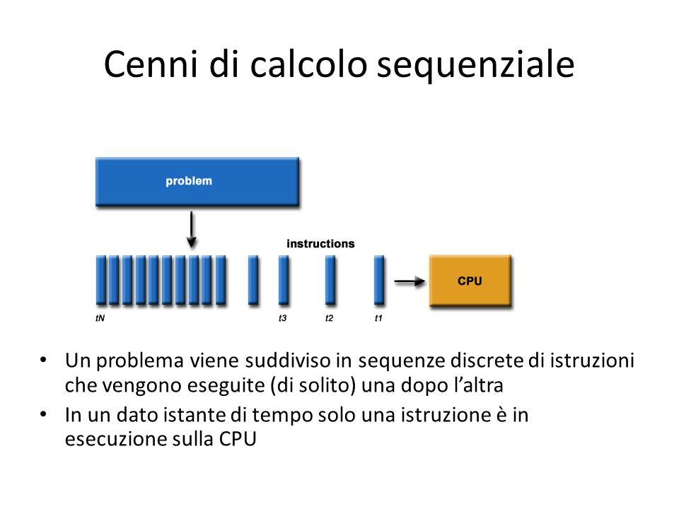 Cenni di calcolo sequenziale