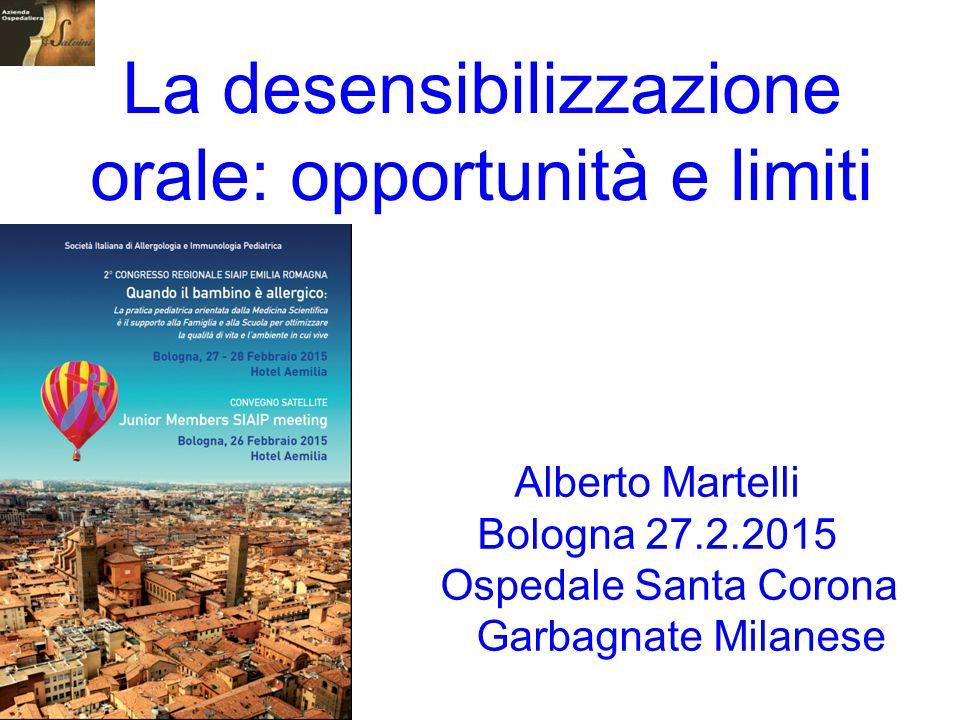 La desensibilizzazione orale: opportunità e limiti
