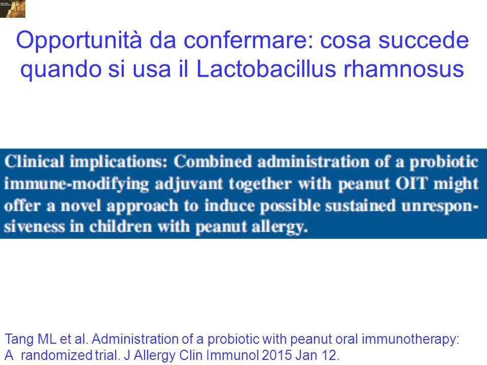 Opportunità da confermare: cosa succede quando si usa il Lactobacillus rhamnosus