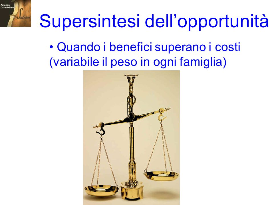 Supersintesi dell'opportunità