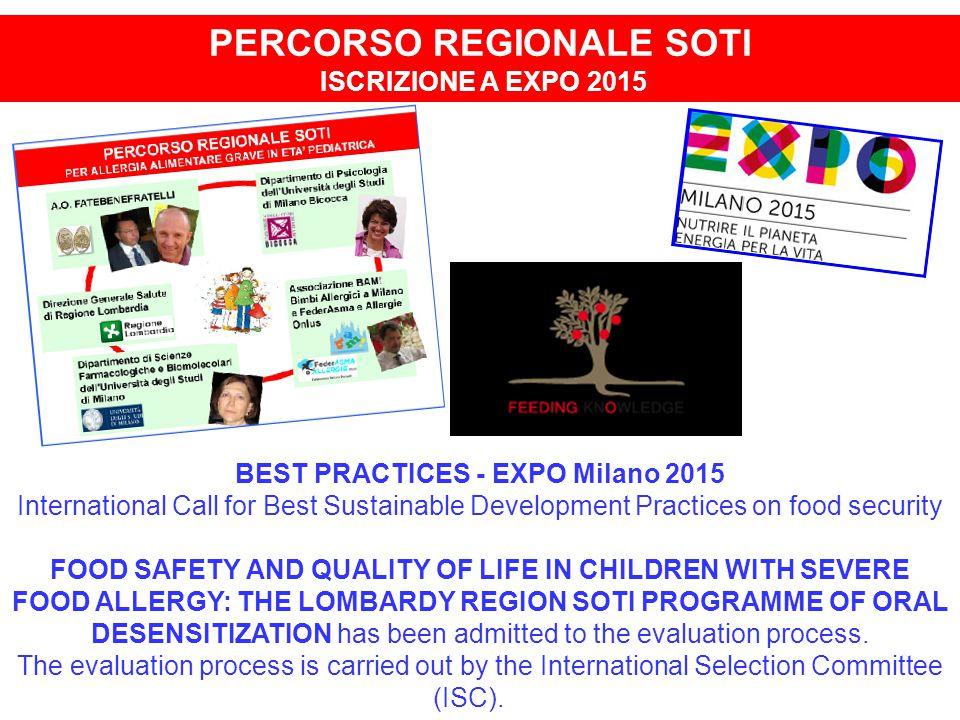 PERCORSO REGIONALE SOTI BEST PRACTICES - EXPO Milano 2015