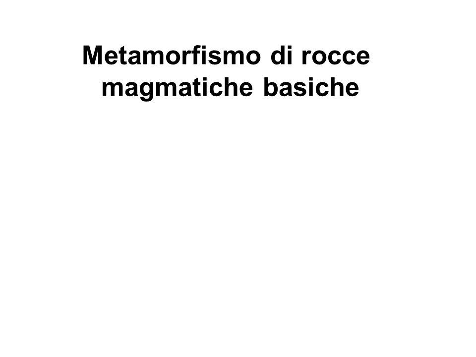 Metamorfismo di rocce magmatiche basiche