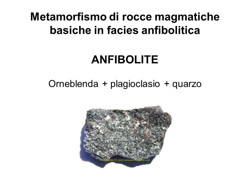 Metamorfismo di rocce magmatiche basiche in facies anfibolitica