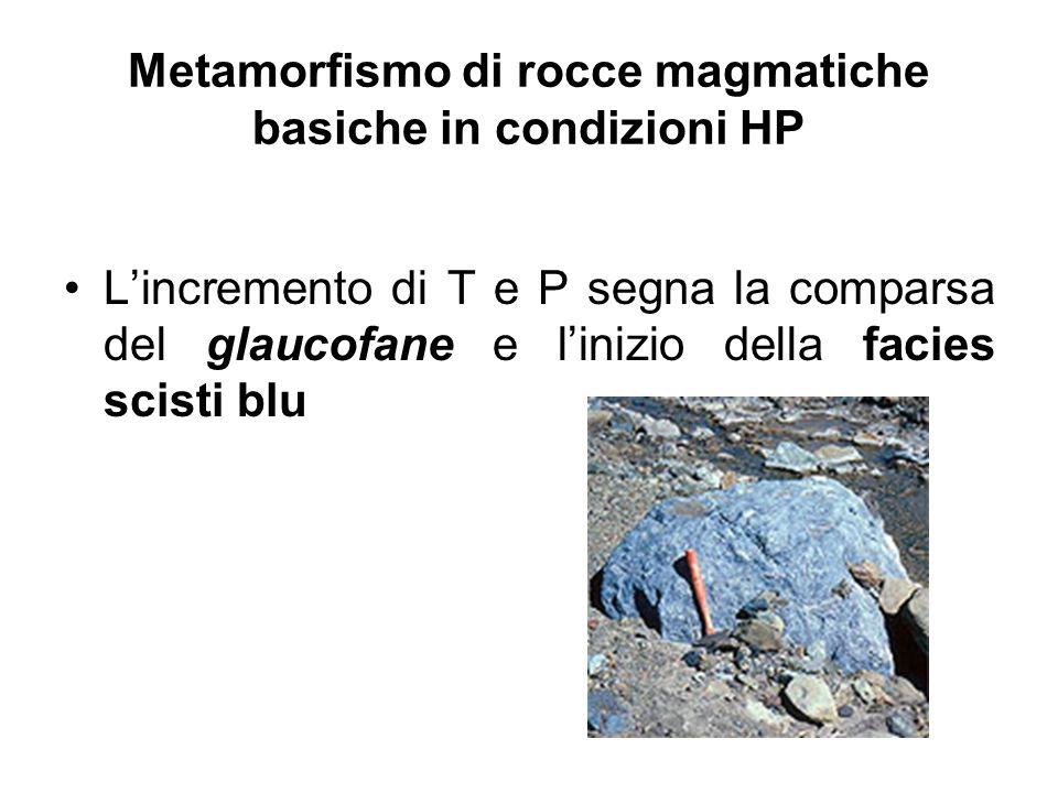 Metamorfismo di rocce magmatiche basiche in condizioni HP