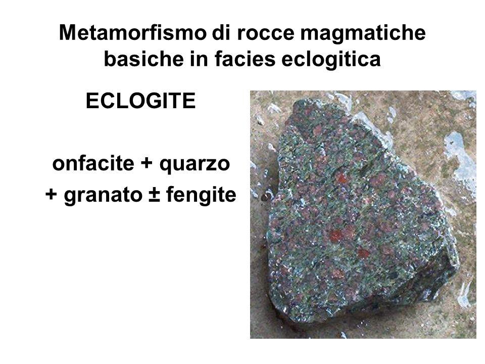 Metamorfismo di rocce magmatiche basiche in facies eclogitica