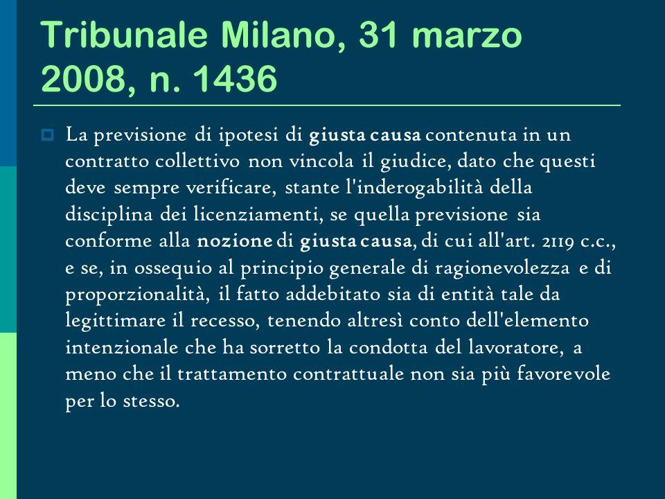 Tribunale Milano, 31 marzo 2008, n. 1436