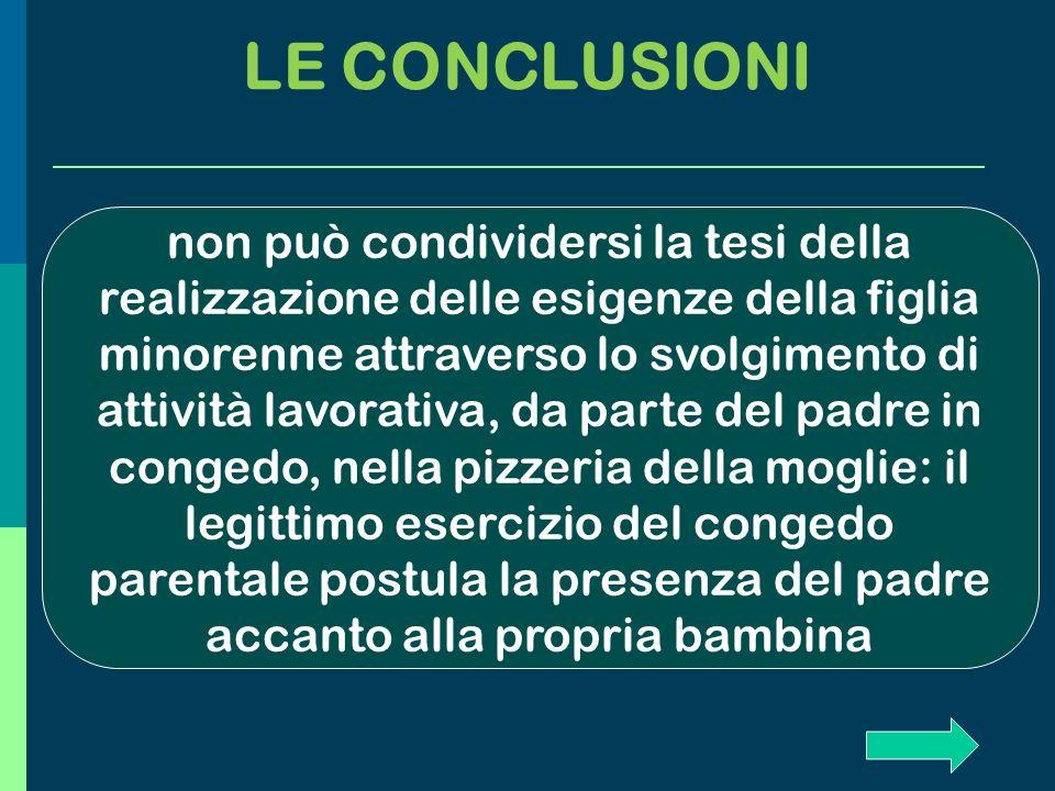 LE CONCLUSIONI