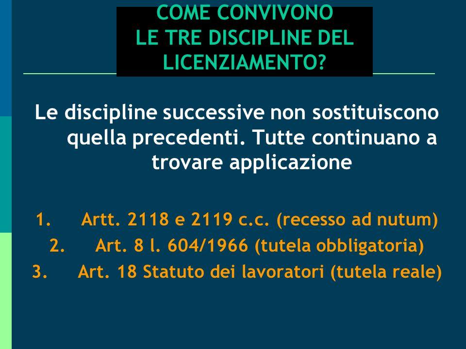 COME CONVIVONO LE TRE DISCIPLINE DEL LICENZIAMENTO