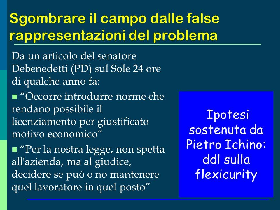 Sgombrare il campo dalle false rappresentazioni del problema