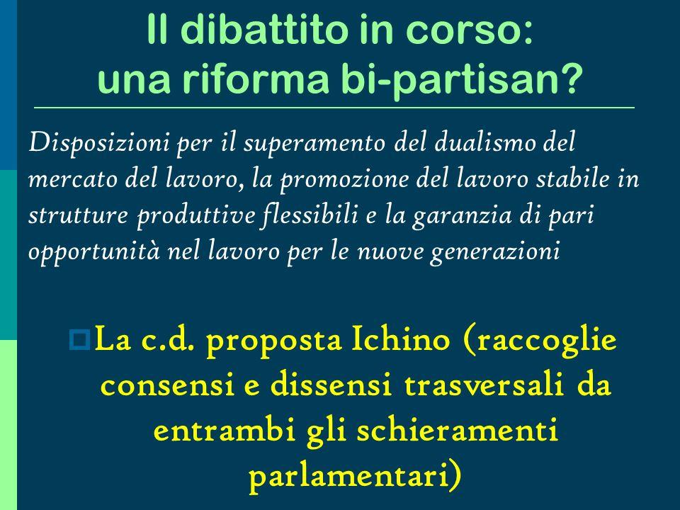Il dibattito in corso: una riforma bi-partisan