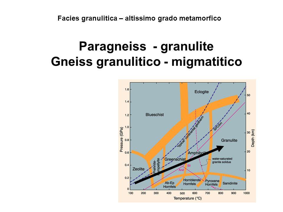 Paragneiss - granulite Gneiss granulitico - migmatitico