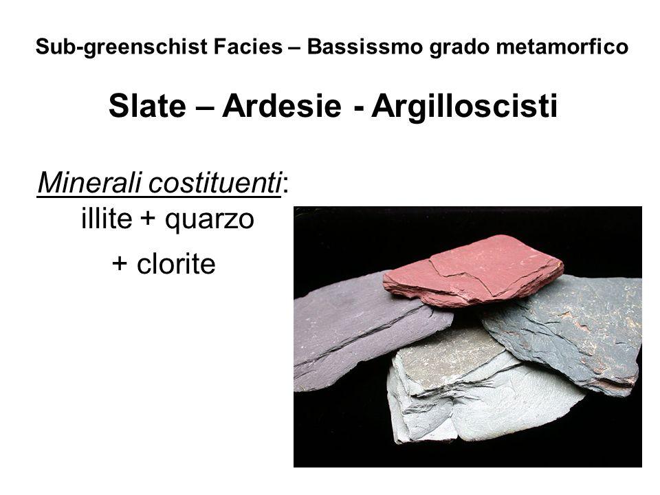 Minerali costituenti: illite + quarzo + clorite
