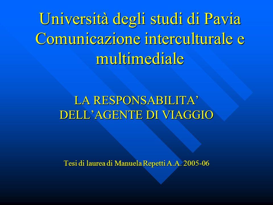 Università degli studi di Pavia Comunicazione interculturale e multimediale