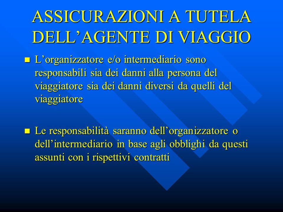 ASSICURAZIONI A TUTELA DELL'AGENTE DI VIAGGIO