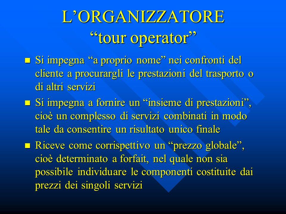 L'ORGANIZZATORE tour operator