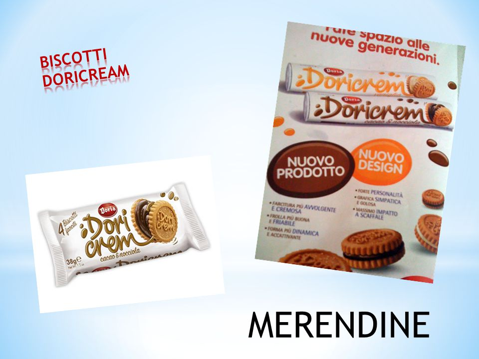 BISCOTTI DORICREAM MERENDINE