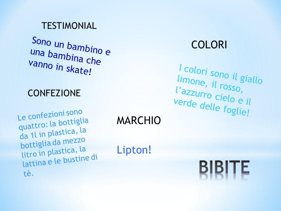 BIBITE COLORI MARCHIO Lipton! TESTIMONIAL