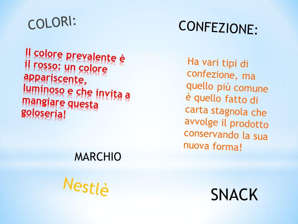 Nestlè SNACK COLORI: CONFEZIONE: MARCHIO