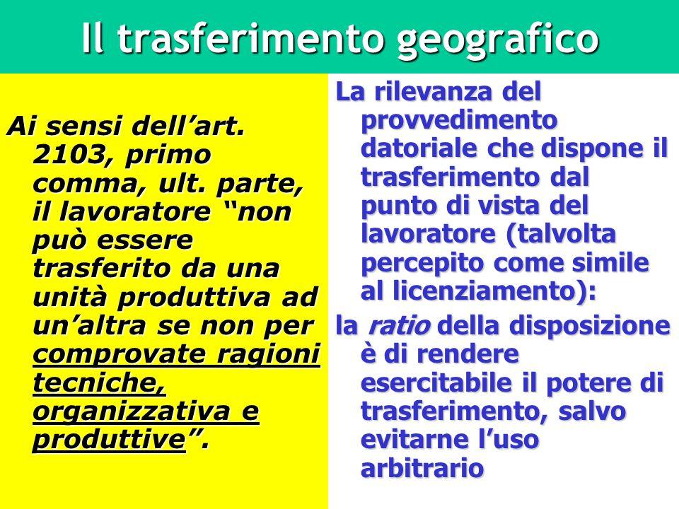 Il trasferimento geografico