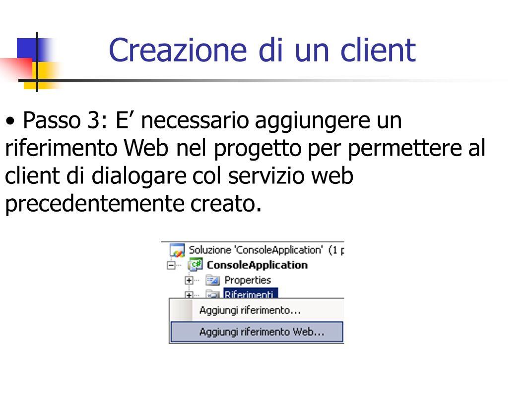 Creazione di un client