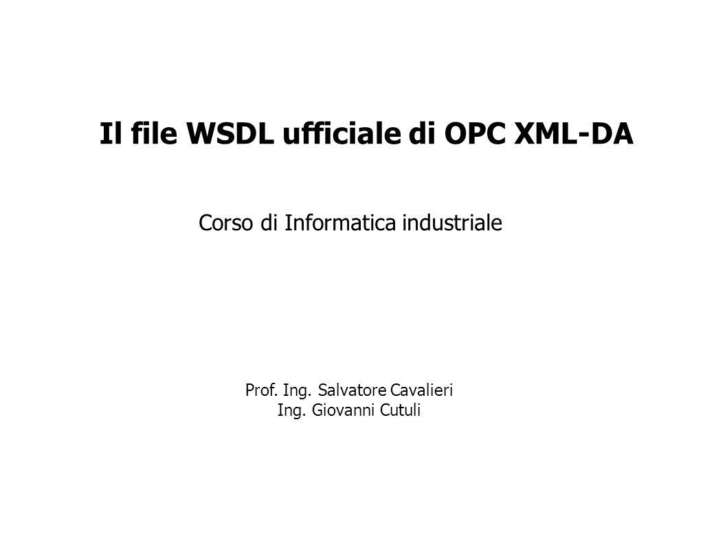 Il file WSDL ufficiale di OPC XML-DA
