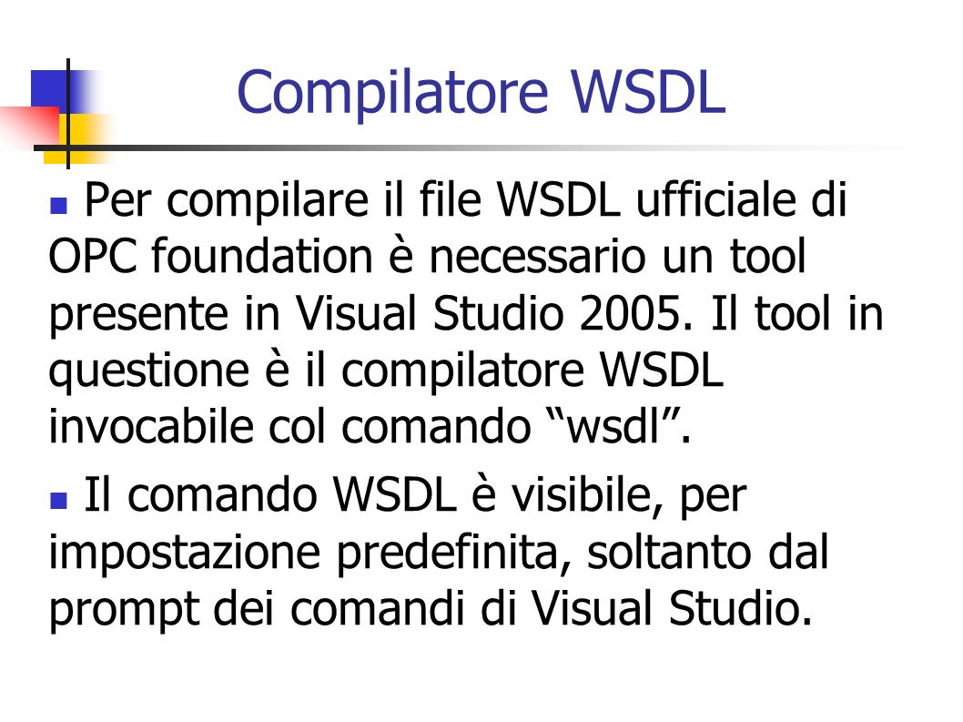 Compilatore WSDL