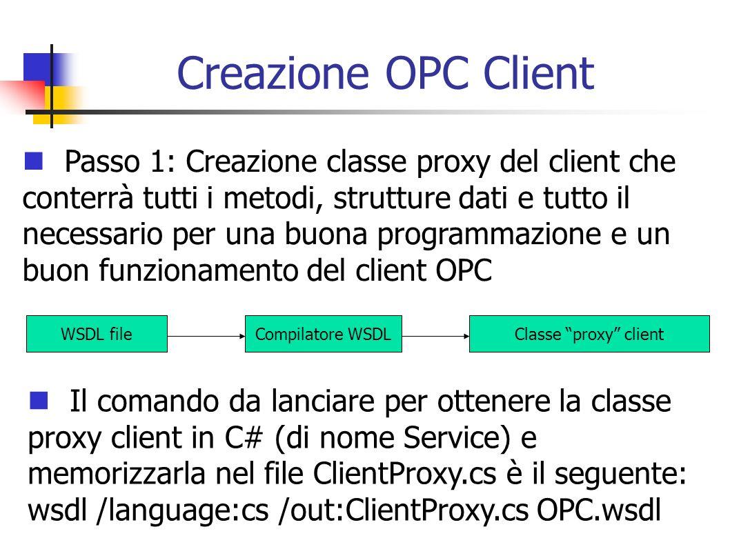 Creazione OPC Client