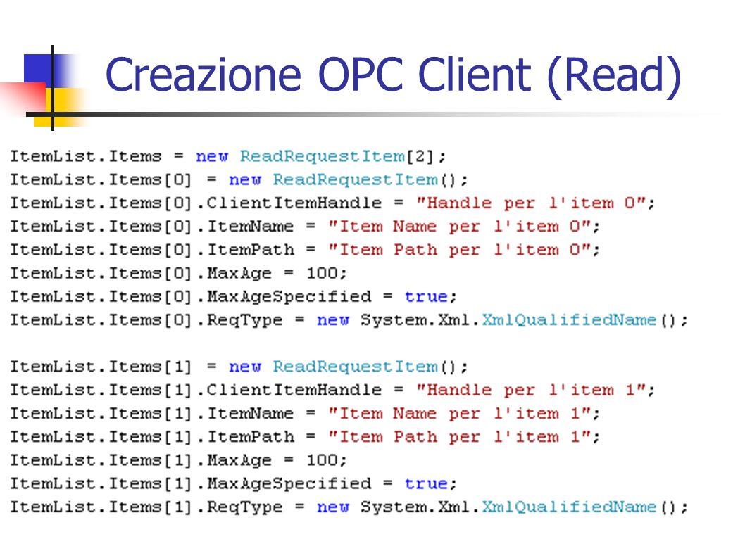 Creazione OPC Client (Read)