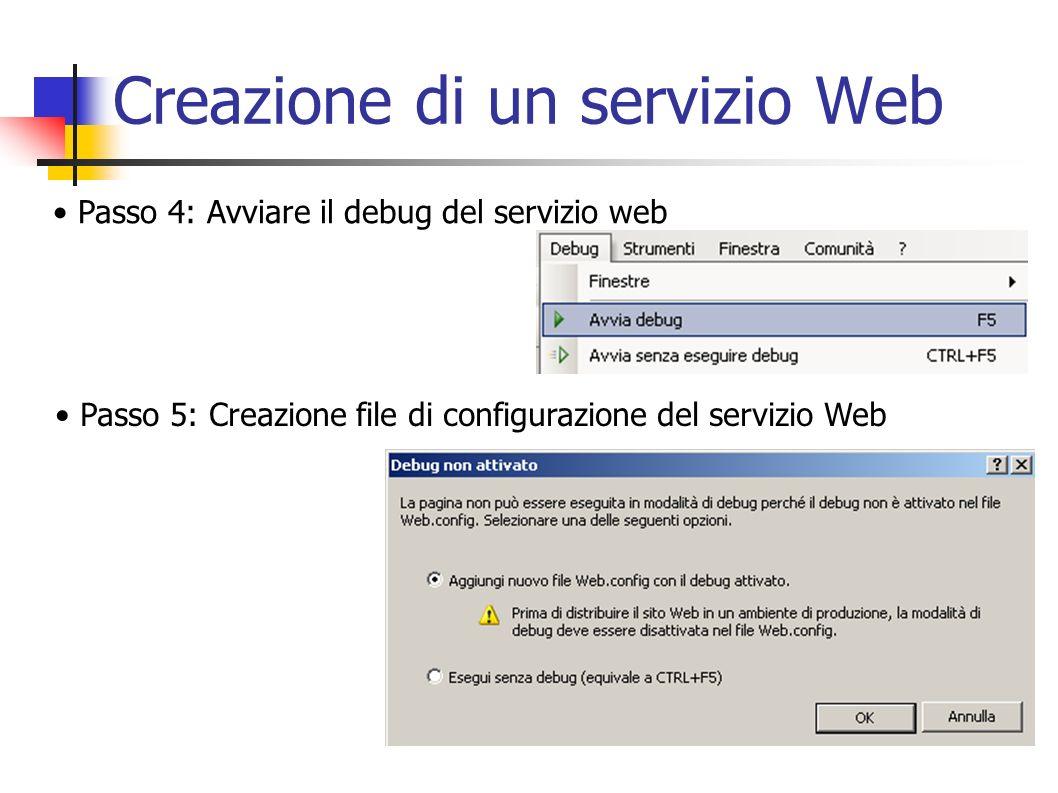 Creazione di un servizio Web