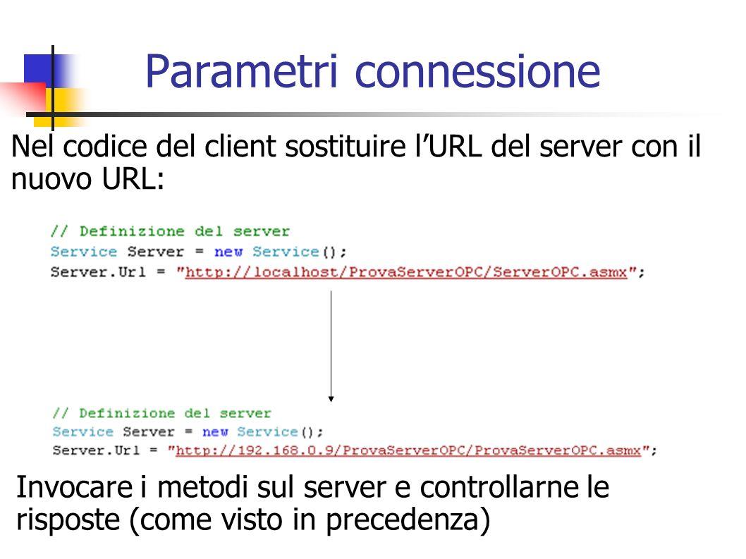 Parametri connessione