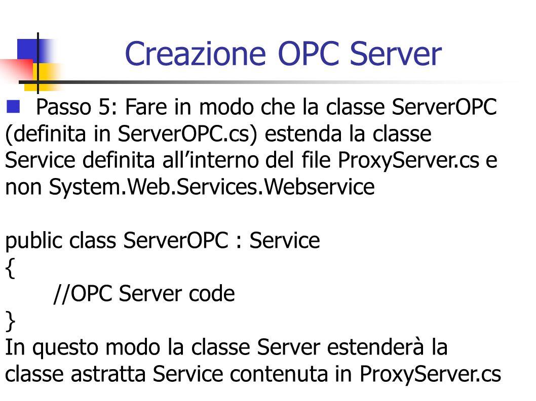 Creazione OPC Server