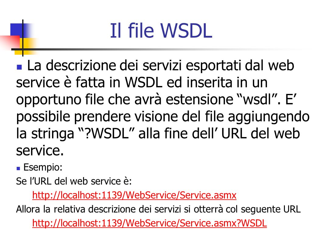 Il file WSDL