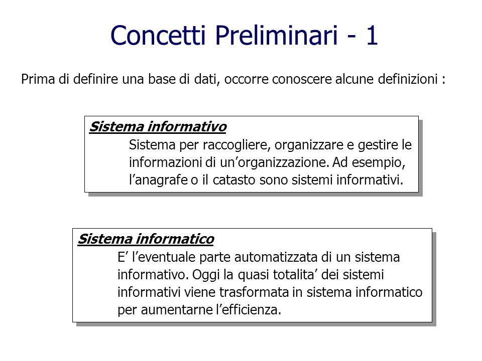 Concetti Preliminari - 1