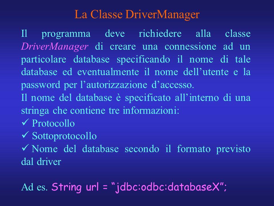 La Classe DriverManager