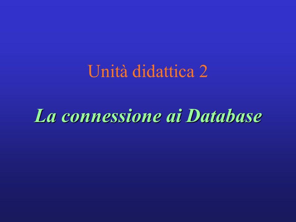 La connessione ai Database