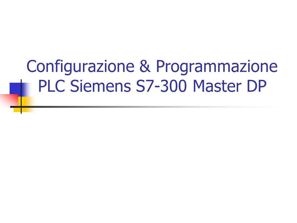 Configurazione & Programmazione PLC Siemens S7-300 Master DP