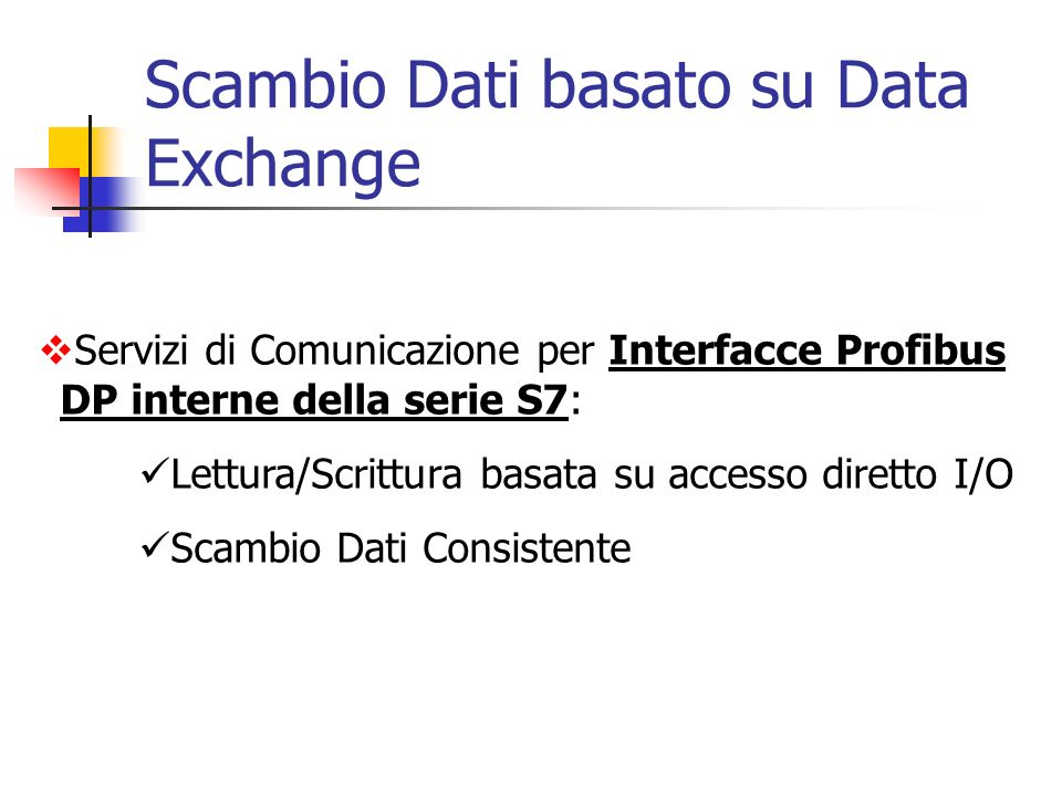 Scambio Dati basato su Data Exchange