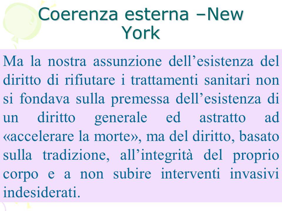 Coerenza esterna –New York